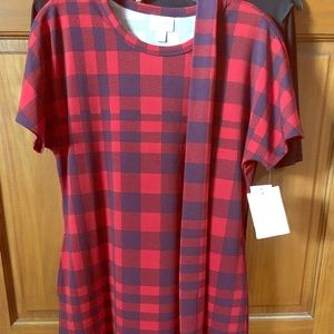 Lularoe Marly Red and deep plum size Small NWT